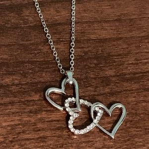 Jewelry - 3 Heart CZ Necklace